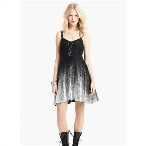 Free People Ombre Black and Silver Dress Size XS